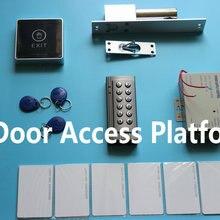 Комплект контроля доступа, пароль+ EM ID карты контроллера машина+ источника питания+ Болт падение блокировки+ Электро осязаемый кнопка выхода+ карта ID