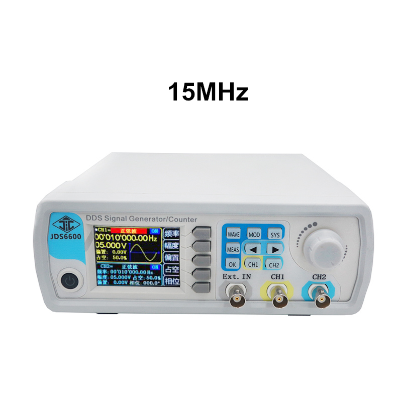 JDS6600 Digital 15MHZ Control Dual channel DDS Function Arbitrary sine Waveform Signal Generator frequency meter 40