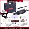 GOXAWEE 220 V Herramientas eléctrica Mini taladro con 0,3-3,2mm Univrersal Chuck & Shiled Rotary Kit de herramientas conjunto para Dremel 3000 de 4000