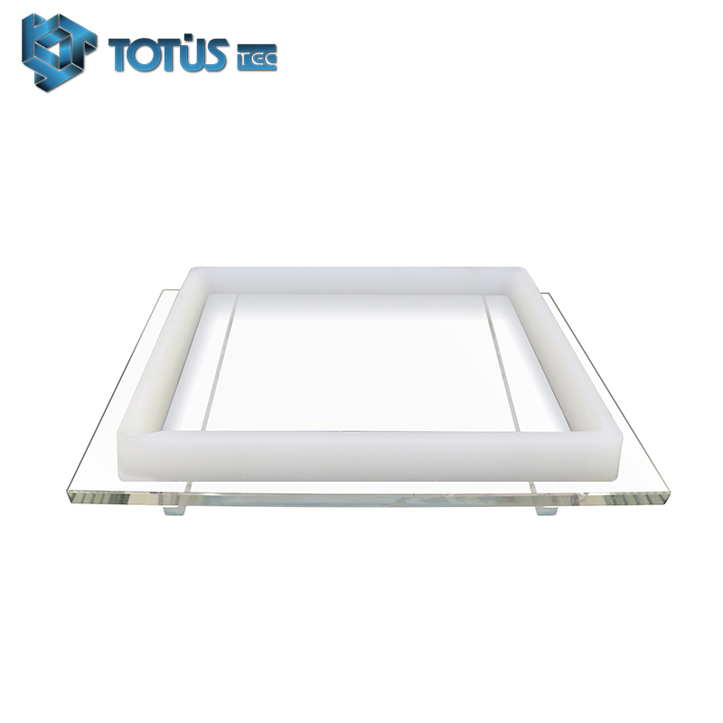 China Factory Directly Supply OEM ODM DLP 3D Printing Resin Tray High Optical Transmittance Resin Tank For Sale In Stock Deliver