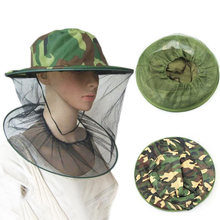 New Garden Beekeeping Hat Camouflage Nets for Mosquito Net Hat Outdoor Mosquito Cap Bug Insect Fishing Hat Mesh Face Protector(China)