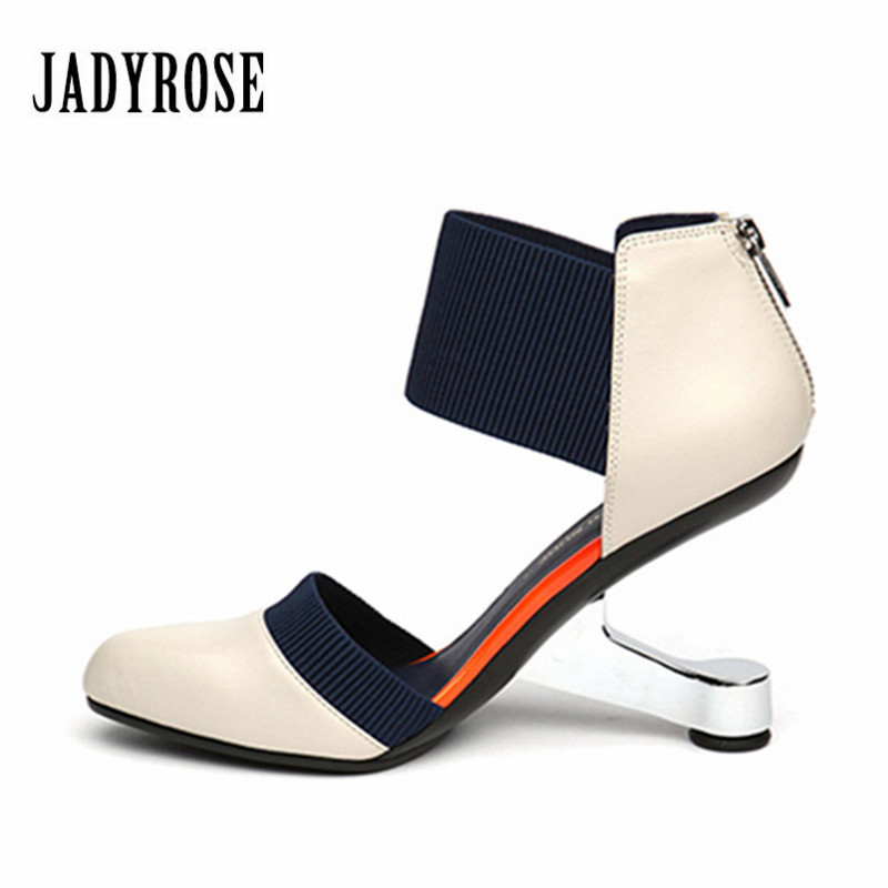Jady Rose 2018 Fashion Black Pointed Toe Women Pumps Zip Wedding Dress Shoes Woman High Heels Valentine Shoes Stiletto Pumps jady rose 2018 new strange heel women pumps pointed toe high heels female wedding dress shoes woman stiletto valentine shoes