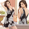 Free Shipping Plus Size XL-XXXL Popular European Embroidery Lace Silk Nightdress Solid Print Women Lounge Nightie
