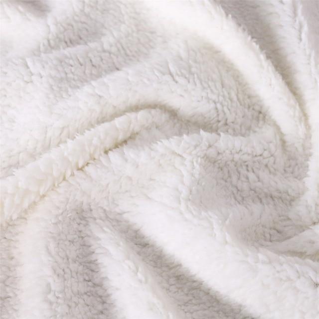 Cartoon Unicorn Velvet Blanket