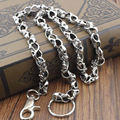 New Arrived Biker Wallet Chain Trucker Heavy Skull Long Metal Keychain for MC Clothing Garment