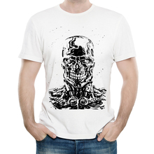 Terminator T Shirt Casual Mens Fashion Short Sleeve Moive Print Tops Tees tshirt White T-shirt