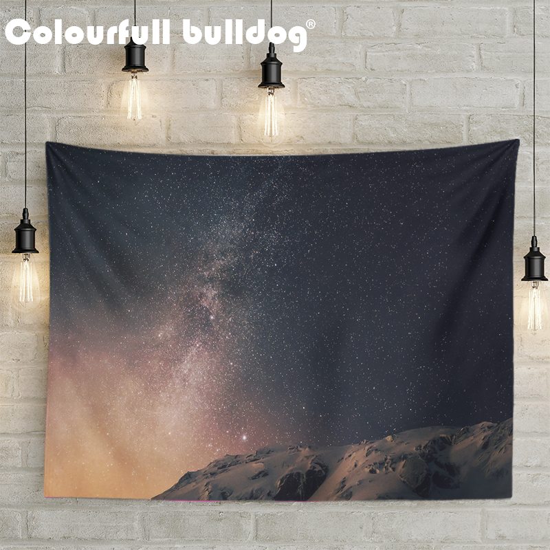 Pretty Universe Landscape Wall Hanging Blankets Starry Sky ...