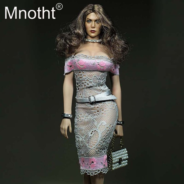 8e7d191330 1/6 Scale Office Girl Grey Mini Skirt With Belt Model Toys For 12inch  Action Figures Phicen/JIAOU Glue Body Accessories Hobbies