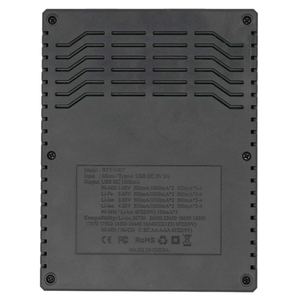 Image 2 - BTY V407 Battery Charger Li ion Li fe Ni MH Ni CD Smart Fast Charger for 18650 26650 6F22 9V AA AAA 16340 14500 Battery Charge