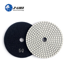 Z-LION  1 Piece 4″ Diamond Polishing Disc Granite Marble Polish Wet Use Concrete Sander Pad Diamond Tool Stone Grinding Buff