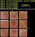 120 Pçs/set 15mm x 15mm Térmica Condutiva Pads Mat para PC Repair GPU GBA CPU CHIP de Memória de Cobre IC
