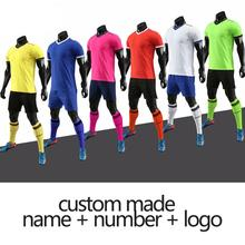 2020 new blank football jersey adult sportswear football training suit soccer uniforms and shorts sportswear custom various old football jerseys matching suit football training suit blank customizable sportswear suit