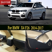 Car pads front rear door Seat Anti kick mat Car styling Accessories For BMW X4 F26 2014 2015 2016 2017 2018