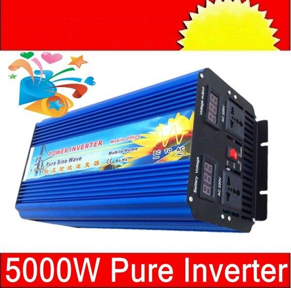 Pure Sine 12V/24V Wave Inverter 5000W Peak 10000W Pure Sine Wave inverter 12V/24V DC To 110/220V~240V AC 5000Watt