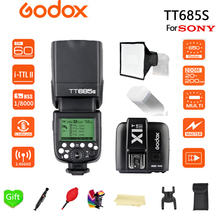 Godox TT685S Flash 2.4G HSS 1/8000s TTL Camera + 15*17cm softbox X1T-S for Sony DSLR Cameras A77II A7RII A7R A58 A99