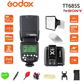 Godox TT685S Flash 2.4G HSS 1/8000s TTL Camera Flash + 15*17cm softbox + X1T-S for Sony DSLR Cameras A77II A7RII A7R A58 A99