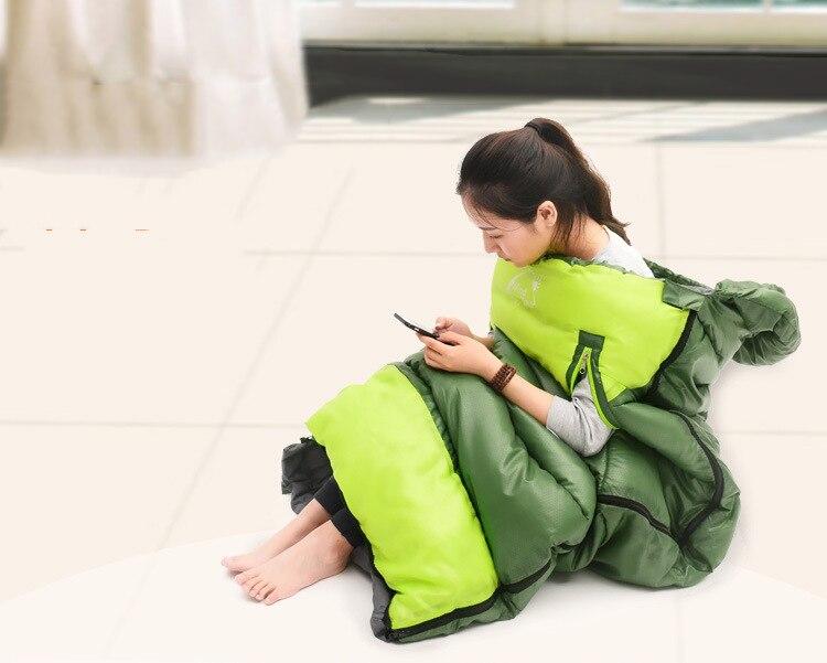 saco de dormir inverno ao ar livre