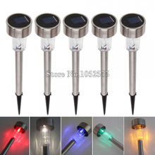 High Quality waterproof solar lamps Stainless Steel Spot Light Solar LED Path Light Outdoor Garden Lawn lightings D142