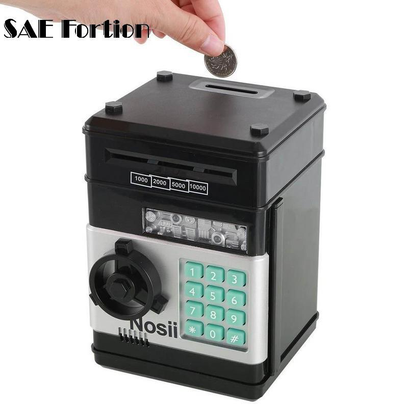 Electronic Password Money Saving Box Coins Saving ATM Bank Safe Box Toy Automatic Electr ...