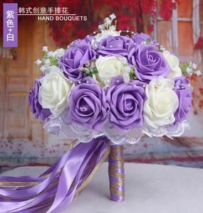 Image 5 - 30 Rose Wedding Bouquets 2020 Handmade Bridal Flower Wedding Party Gifts Wedding Accessories Flowers Pears beaded with Ribbon