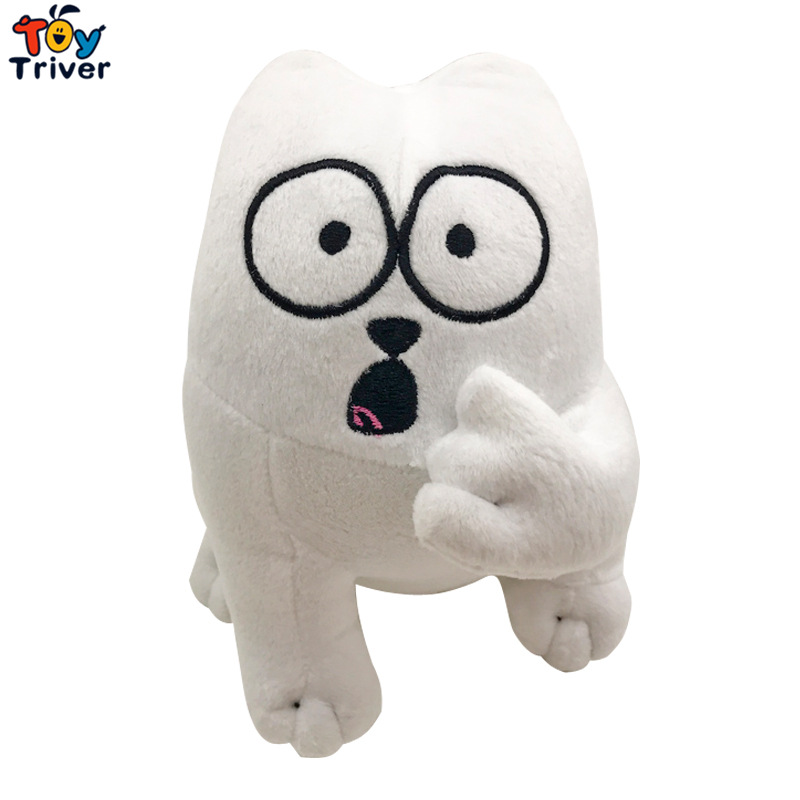 21cm Plush Simon's Cat Toy Stuffed Animal Doll White Simon Cat Kitty Cartoon Youtube Figure Kids Children Gift Home Decor Triver stuffed animal 90 cm plush dolphin toy doll pink or blue colour great gift free shipping w166