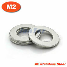 1000pcs/lot DIN125 M2 Flat Washer A2 Stainless Steel