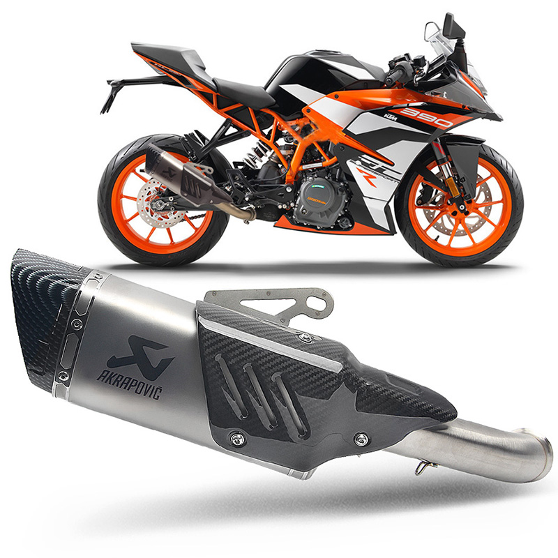 Universal 51mm Motorcycle Exhaust Pipe Moto Muffler Middle Link Pipe For KTM DUKE 390 250 Duke RC 390 RC390 2017 2018 17 Slip-on
