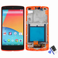 Red Color For LG Google Nexus 5 D820 D821 LCD Display Touch Screen with Digitizer Full Assembly Frame with Tools