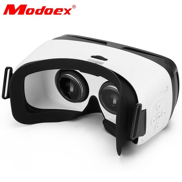 Hot Sale!Fashion Brand Modoex Bluetooth vr glasses Virtual Reality 3D Glasses goggles vr headset Head Mount Google 3d Helmet