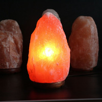 Natural Rock Lamp Hand Carved Crystal Salt Light Ionizer Creative Small Night Light Eye Protection Light For Health 80x80x150mm