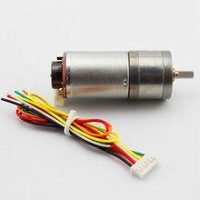 Encoder 25GA speed gear motor (6 / 12V). With code disc big torque motor, balance car model motor 12vdc 8 1000rpm high torque speed reduction gear motor with holzer encoder