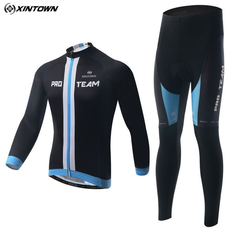 XINTOWN Men Long Sleeve Cycling Jersey Cycling Clothing Bike Winter Maillot Ciclismo Riding Outdoor Sportswear CC0320