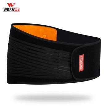 WOSAWE gorset Waist Trainer wsparcie pas wyszczuplający regulowana ochrona tyłu siłownia podnoszenie ciężarów ochrona nerek Moto tanie i dobre opinie Talii Ochrony Mężczyźni Unisex Kobiety Waist Support Nylon Composite Material Black and orange Men Women Female Male