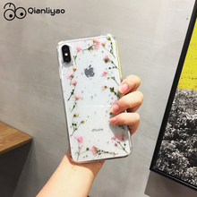 Qianliyao Shining Beautiful Dried Flowers Phone Case For iPhone X XS XR Max 6 6S 7 8 Plus 11 Pro Real Flower Back Cover