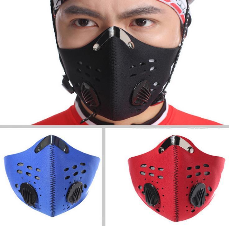 Competente Pm2.5 Las Mujeres Y Los Hombres Deportes Ciclismo Transpirables Filtros De Carbono Máscara Polvo Niebla Protección Media Cara De Máscara
