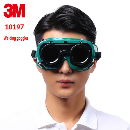 3 M 10197 soldadura gafas genuino seguridad 3 M gafas láser clamshell doble capa anti-soldadura arco anti- choque gafas de seguridad