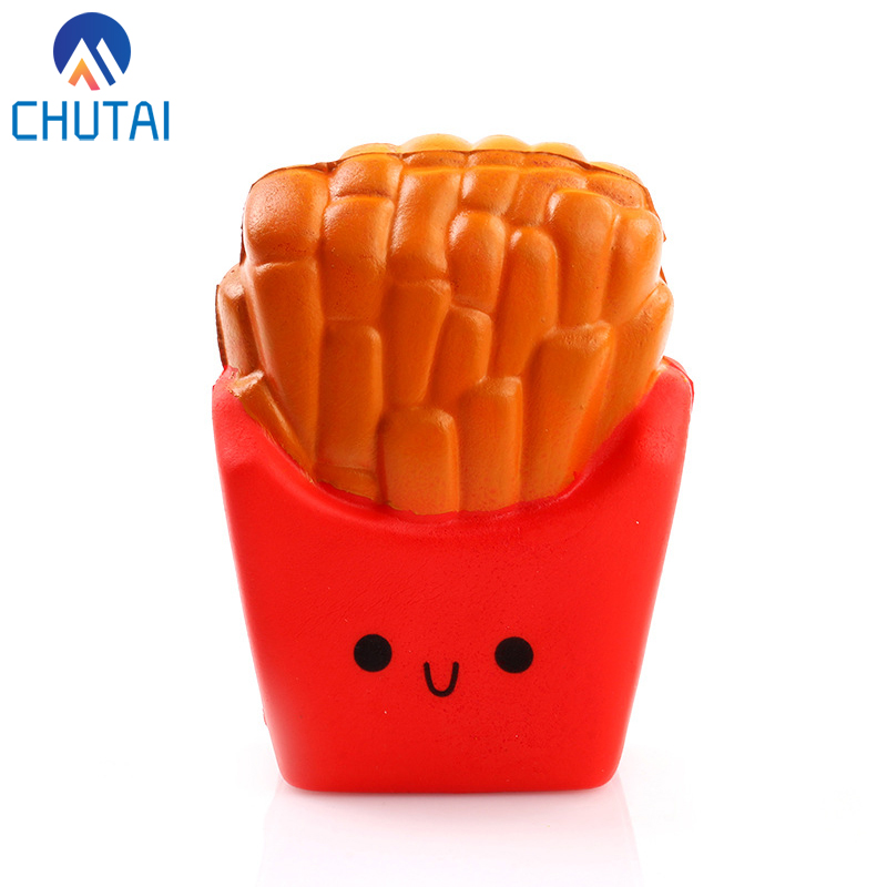 Jumbo Simulation French Fries Scented Squishy Slow Rising Soft Stuffed Squeeze Toys Kids Grownups Stress Relief Toy 12*10CM