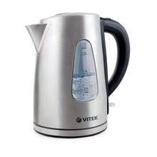 Чайник электрический Vitek VT-7007 ST (Объем 1.7 л, мощность 2200 Вт, стальной корпус, фильтр)