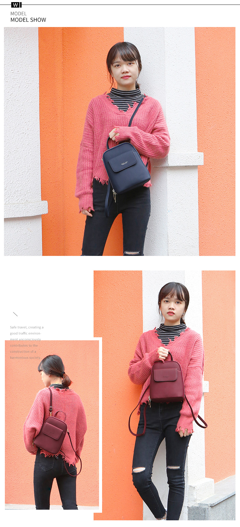 WEICHEN Multi-Function Women Backpack Fashion Small Backpack Female Leather Ladies Shoulder Bag Girl Satchel Mini Mochila Purse
