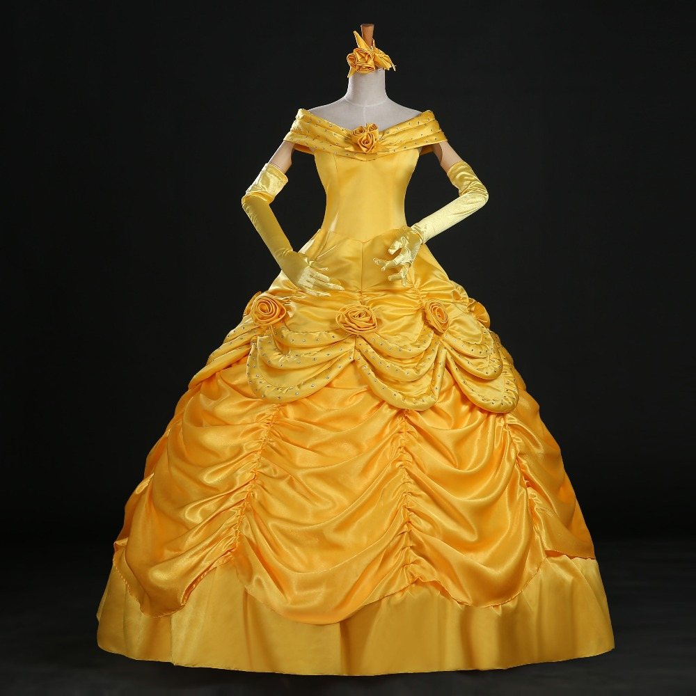 Beauty and the Beast princess Bell gown cosplay costume dress custom made