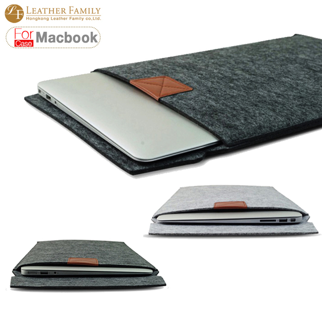 "Newest ! Fashion Laptop Cover Case For Macbook Pro/Air/Retina Notebook Sleeve bag 11""13""15"" Wool Felt Ultrabook Sleeve Pouch Bag"