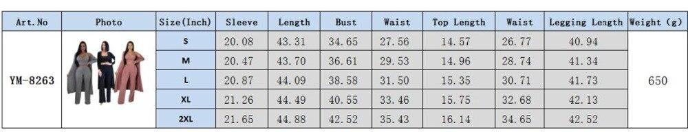 8263 size chart