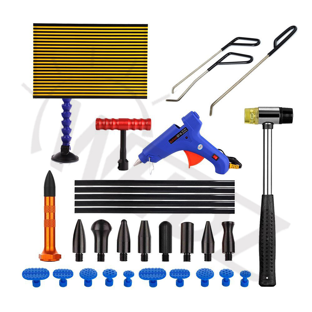 WHDZ Paintless Dent Repair Tool Kit - PDR LED Light borde PDR Strip Line Board with PDR Ding Dent Repair Rod PDR Tab down цена
