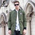 Pioneer Лагерь Новый army green осень зимняя куртка пальто мужчины марка одежды верхнего качества Мужской пальто хлопка мода повседневная 677159