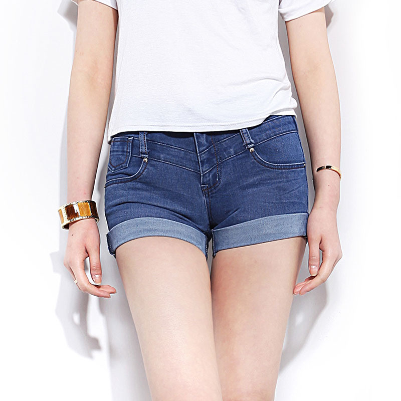 Dark Denim Shorts Womens - The Else