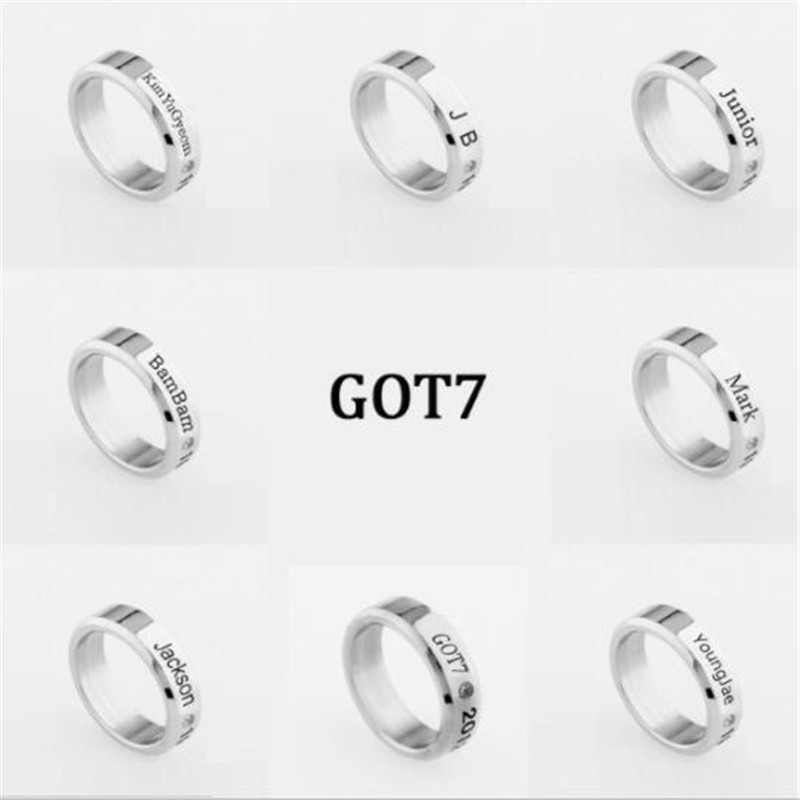 Useful Kpop Got7 Jackson Mark Bambam Ring,name Bar Ring,h020 Be Shrewd In Money Matters Jewelry & Accessories