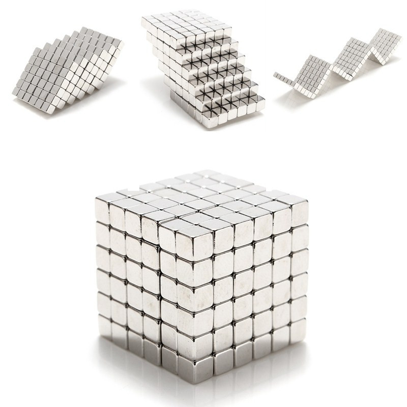 3x3x3mm 216pcs Silver Magnet Balls Magic Square 3D Puzzle Ball Sphere Magnetic Child Toy  N35 Neodymium Magnets New