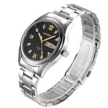 Hombres Famosos Relojes de Primeras Marcas de Lujo Del Cuarzo Del Deporte de Acero Inoxidable reloj de Pulsera De Hombre Relogio masculino Relojes de Doble Calendario
