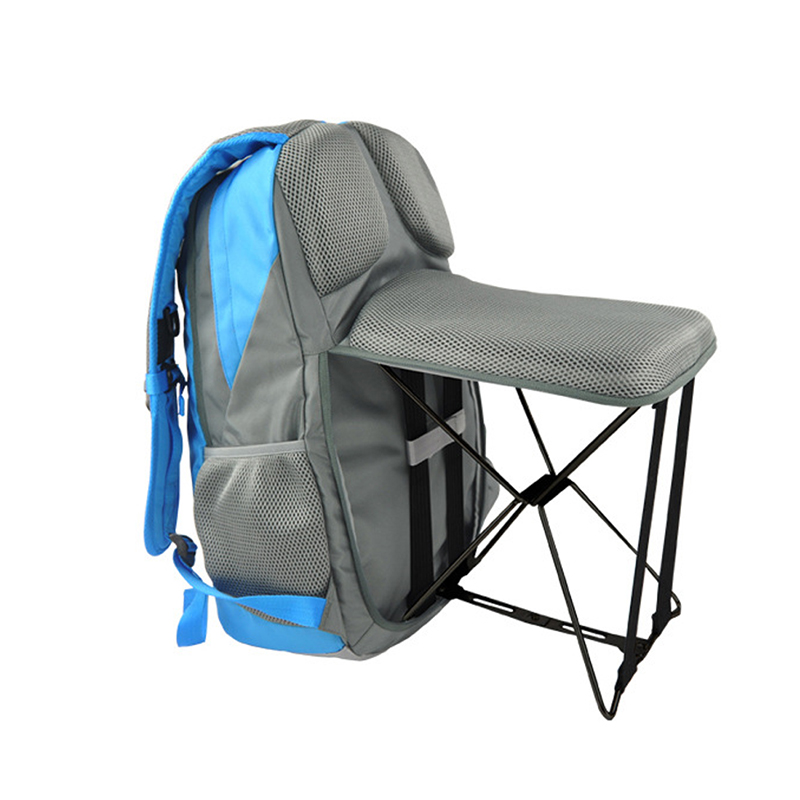 Outdoor Fishing Backpack Hiking Camping Trekking Travel Shoulder Multi-functional Large Capacity Fishing Bag Folding Chairs 47L 65l professional outdoor mountaineering bag camouflage bag large capacity multi function camping hiking backpack outdoor travel
