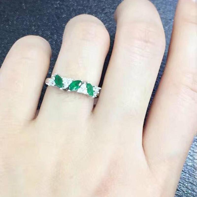 купить 2017 Hot Sale Anillos Qi Xuan_Fashion Jewelry_Green Stones Fashion Rings_Solid Silver Green Woman Rings_Factory Directly Sales онлайн